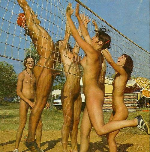 nudist colony volley ball