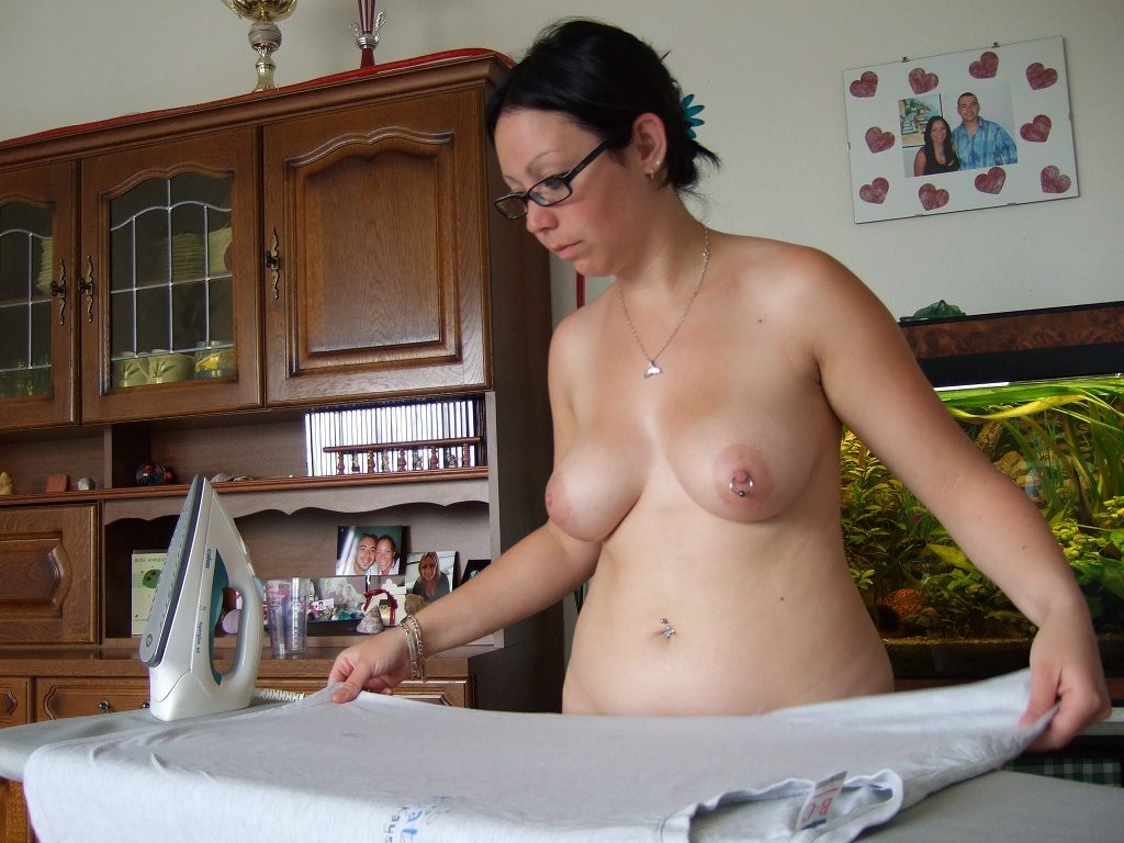 Working around the house naked