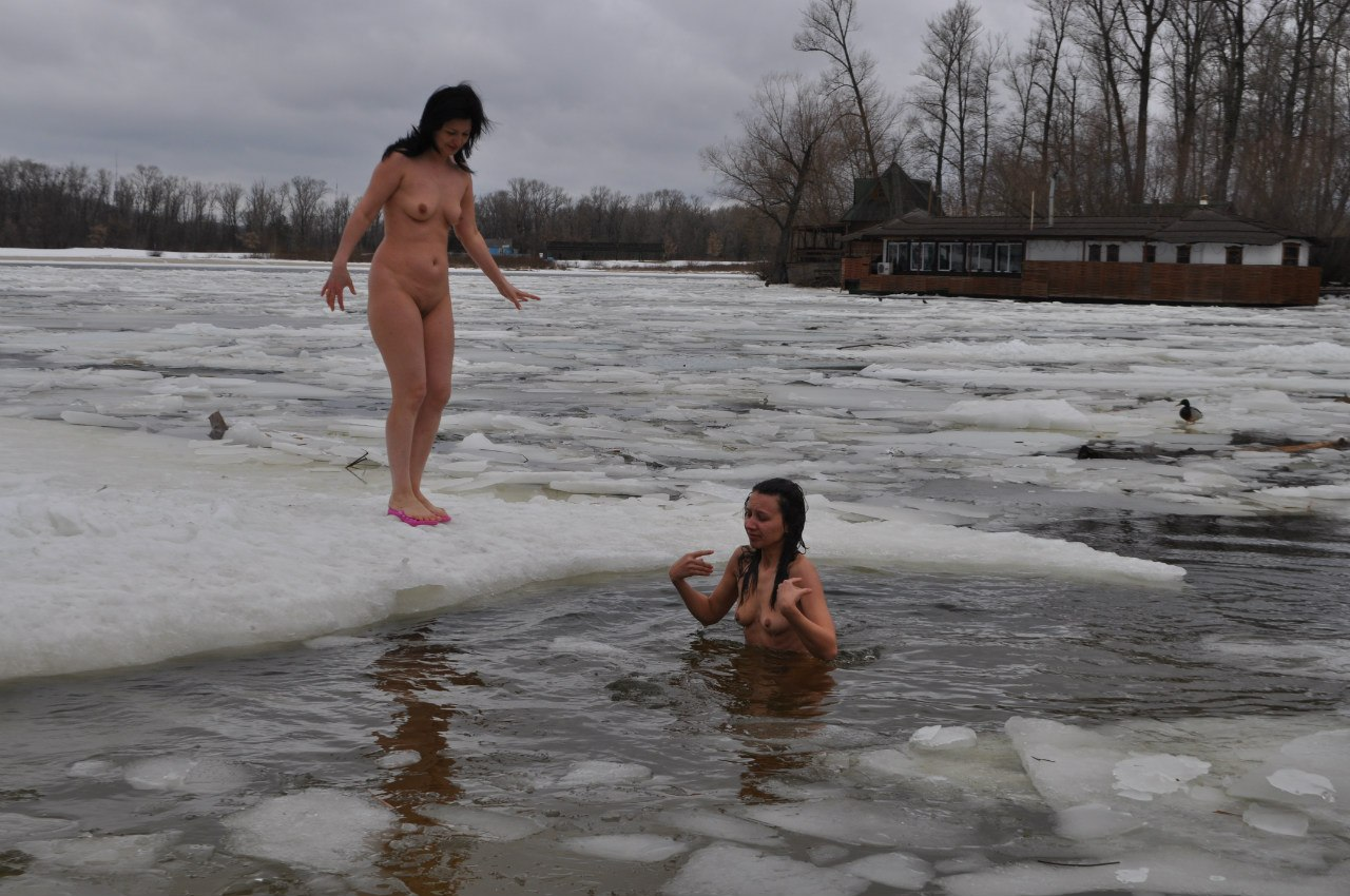 Opinion the Naked girls ice water think